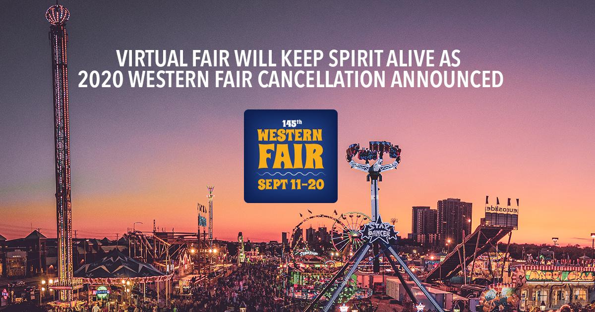 Western Fair 2020 Cancelled