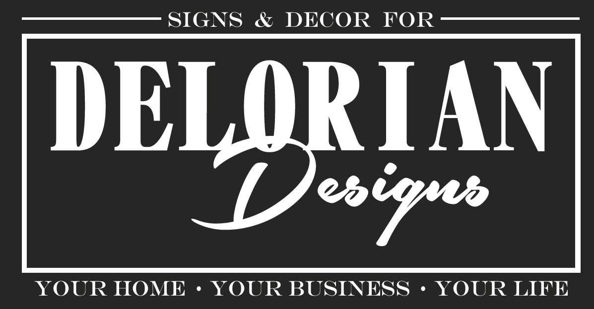 Delorian Designs-Signs & Décor by Lori Allen Logo