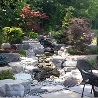 Wood, Water, and Stone Landscape Design - Build Logo