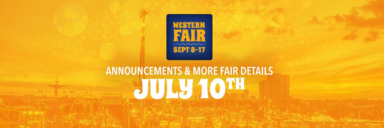 Announcements & more fair details - July 10th