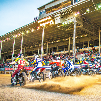 Flat Track Motorcycles Racing