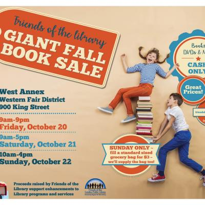friends fall book sale 2017