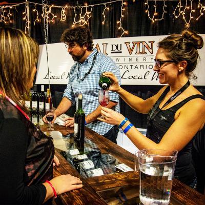 Quai Du Vin pouring wine