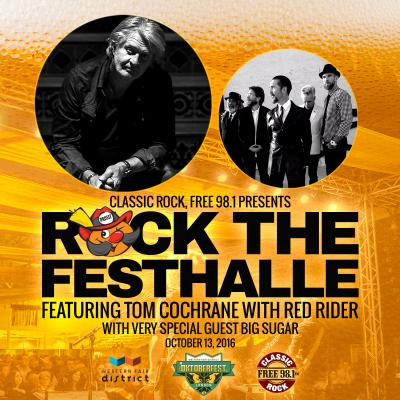 Rock the Festhalle with Tom Cochrane with Red Rider with very special guest Big Sugar
