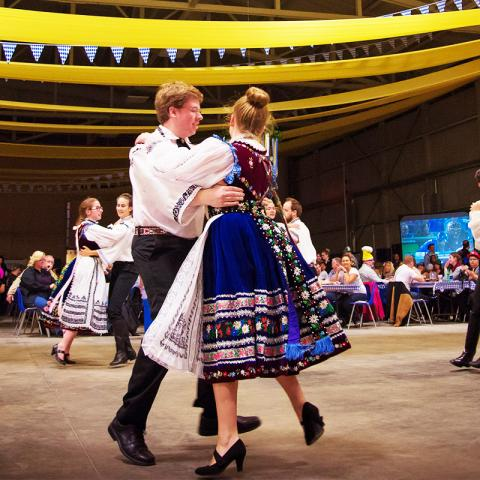 Saxonia Hall dancers, dancing at Oktoberfest
