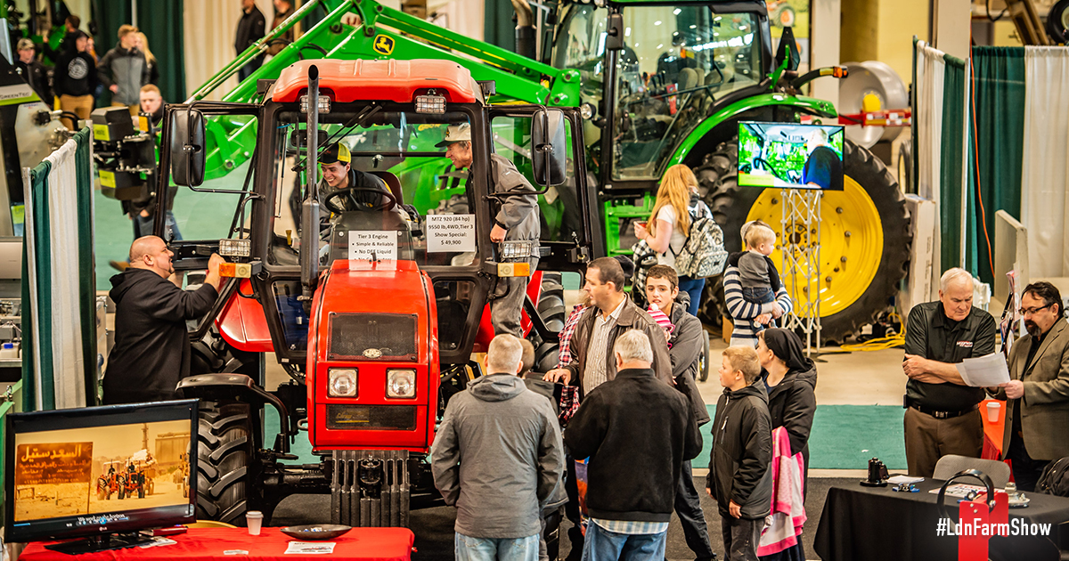 Equipment and Customers at the Farm Show
