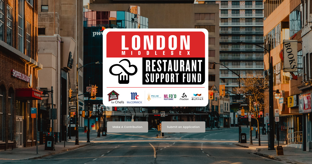Club House for Chefs Teams Up with Local Businesses and Nonprofits to Launch London-Middlesex Restaurant Support Fund