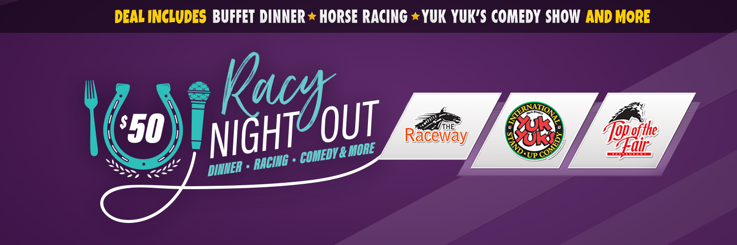 A Racy Night Out: Dinner, Racing, Comedy & more
