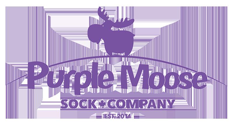Purple Moose Sock Company Logo