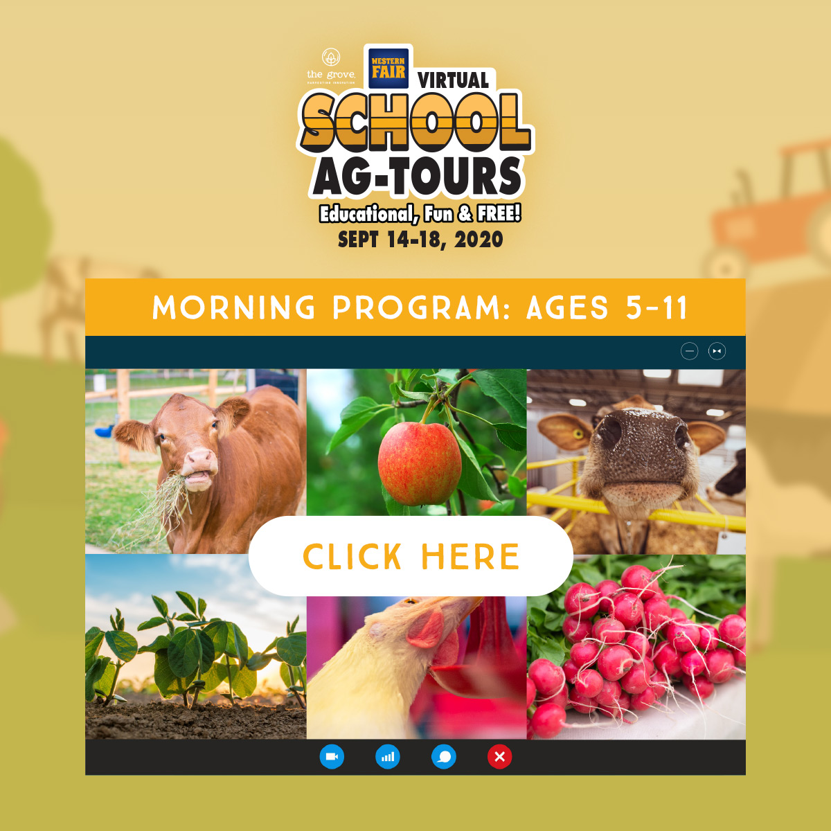 School Ag-Tours: Morning Program: Ages 5-11 - Click Here
