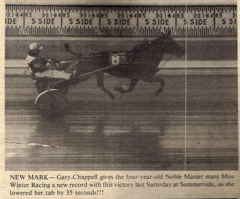 Miss Winter Racing from back in the day at Summerside Raceway