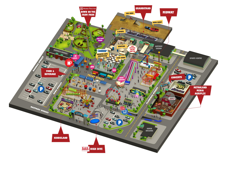 Western Fair 2017 Map