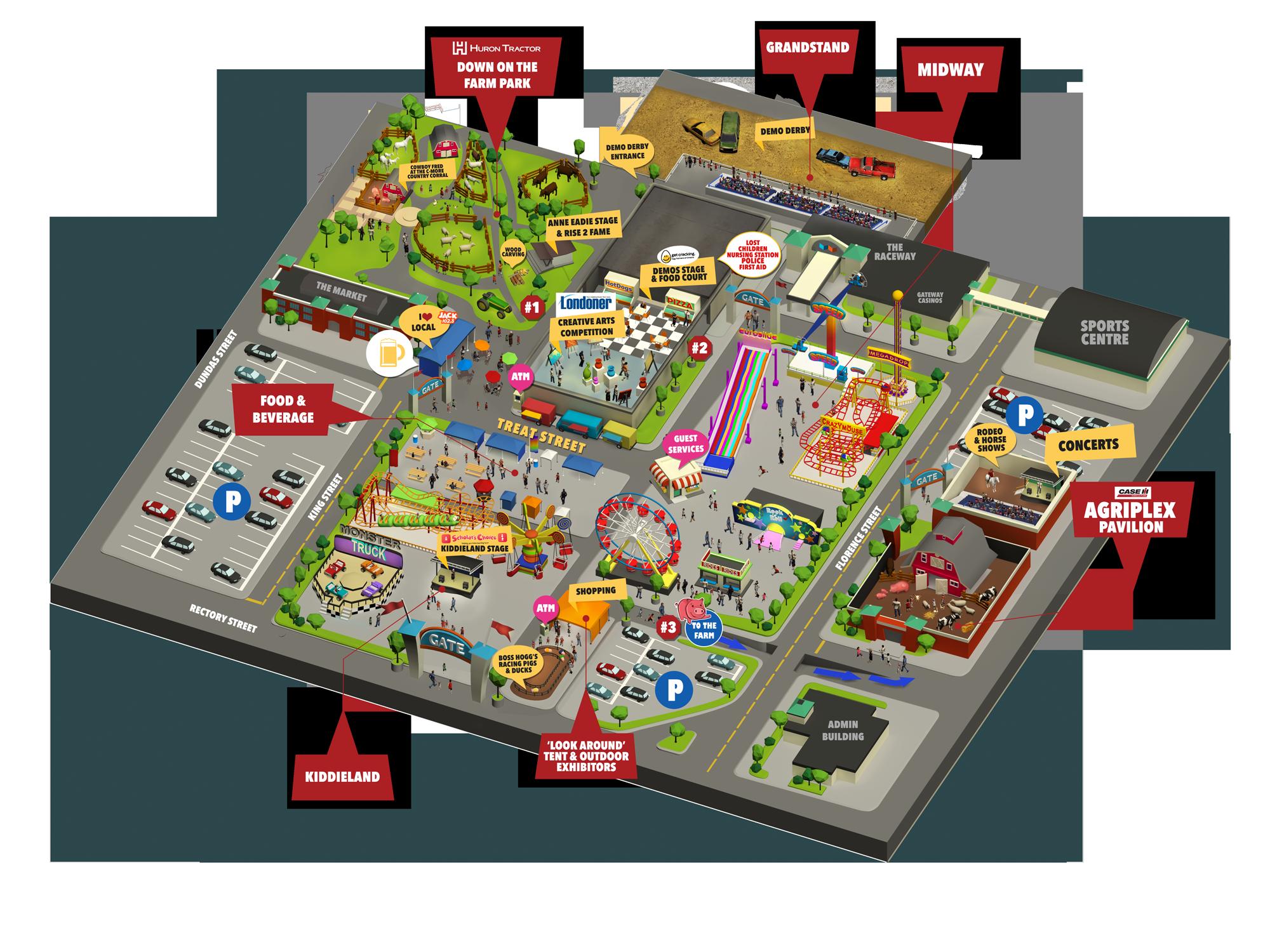 Western Fair 2018 - Map