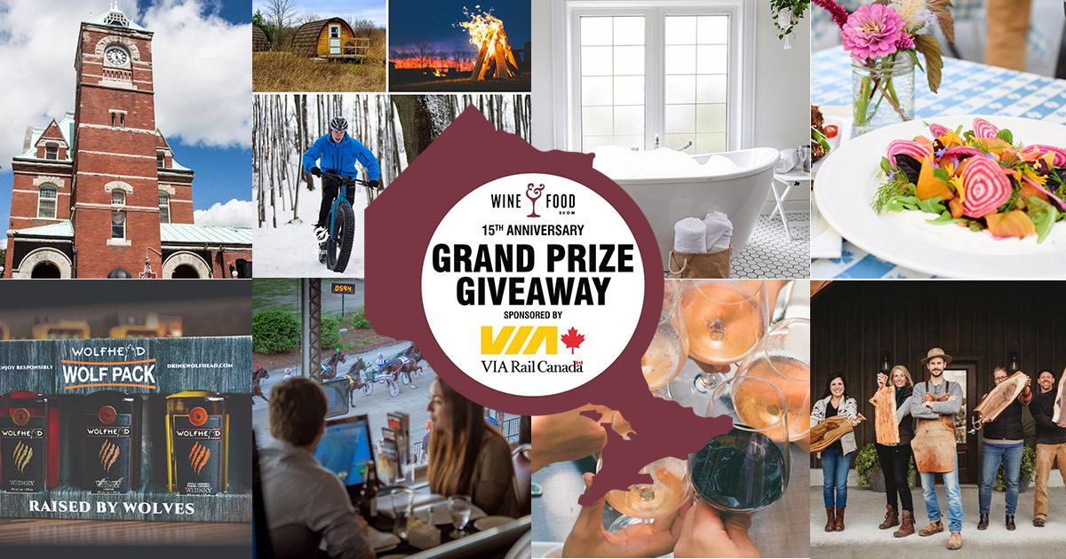 Wine & Food Grand Prize Giveaway sponsored by VIA Rail